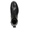 Pánska kožená členková obuv bata, čierna, 896-6690 - 15