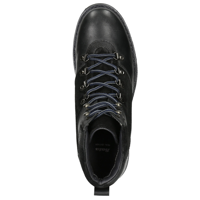 Pánska zimná obuv s výraznou podrážkou bata, čierna, 896-6668 - 26