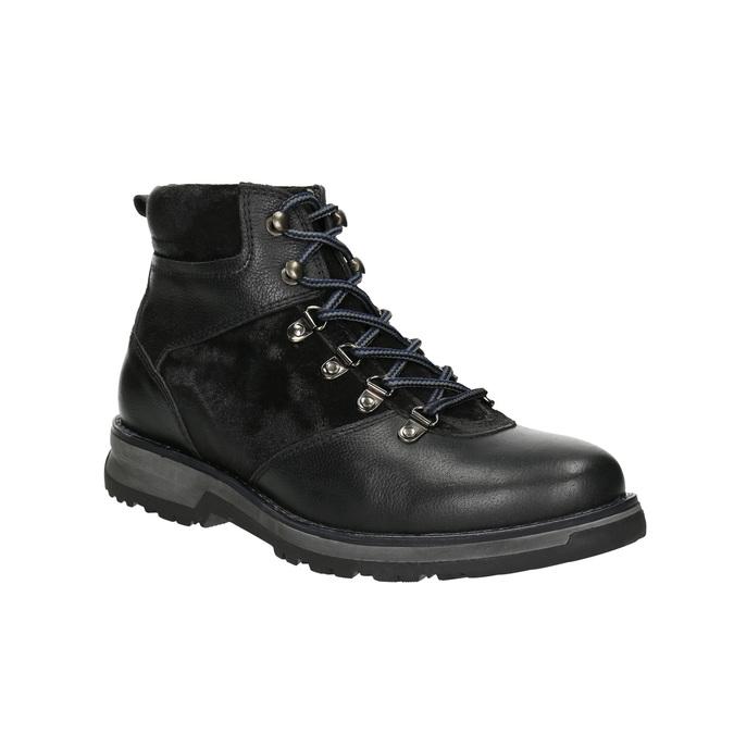 Pánska zimná obuv s výraznou podrážkou bata, čierna, 896-6668 - 13