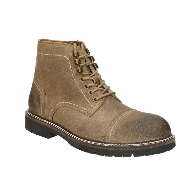 Členková kožená obuv bata, hnedá, 893-3653 - 13