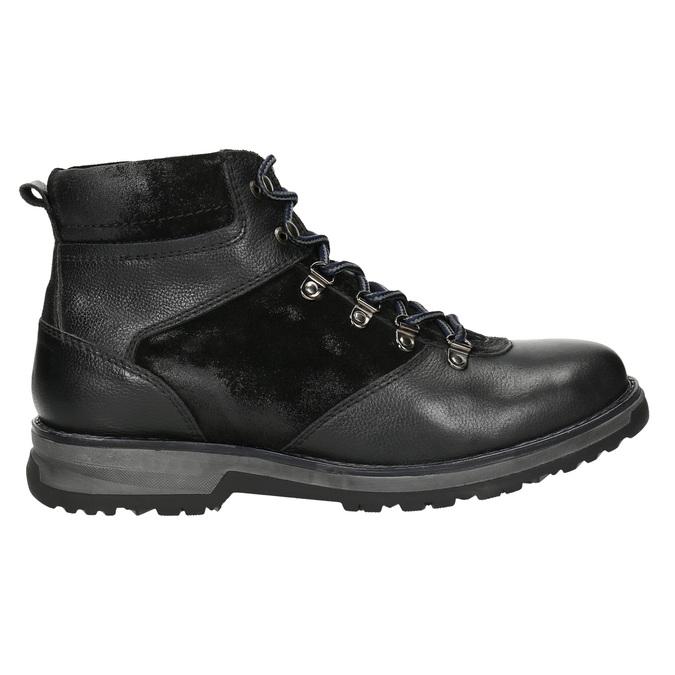 Pánska zimná obuv s výraznou podrážkou bata, čierna, 896-6668 - 15