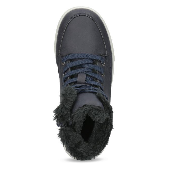 Detská obuv so zateplením mini-b, modrá, 491-9652 - 17