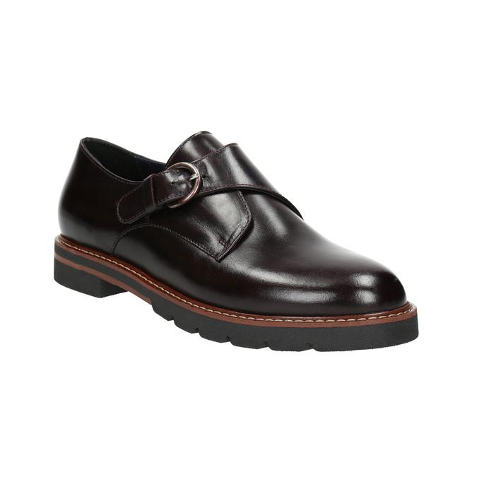 Dámske kožené Monk Shoes bata, červená, 516-5611 - 13