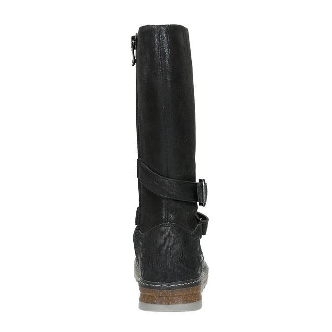 Dievčenské čižmy s masívnou podrážkou mini-b, čierna, 391-6657 - 16