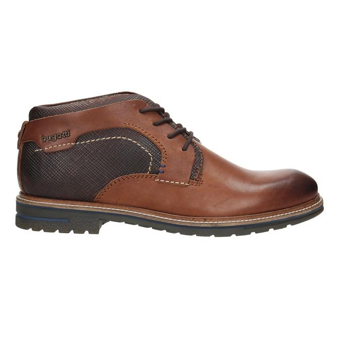Kožená členková obuv bugatti, čierna, 824-6010 - 26