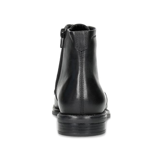 Kožená členková dámska obuv vagabond, čierna, 524-6010 - 15
