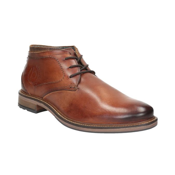 Kožená pánska členková obuv bugatti, hnedá, 826-3005 - 13