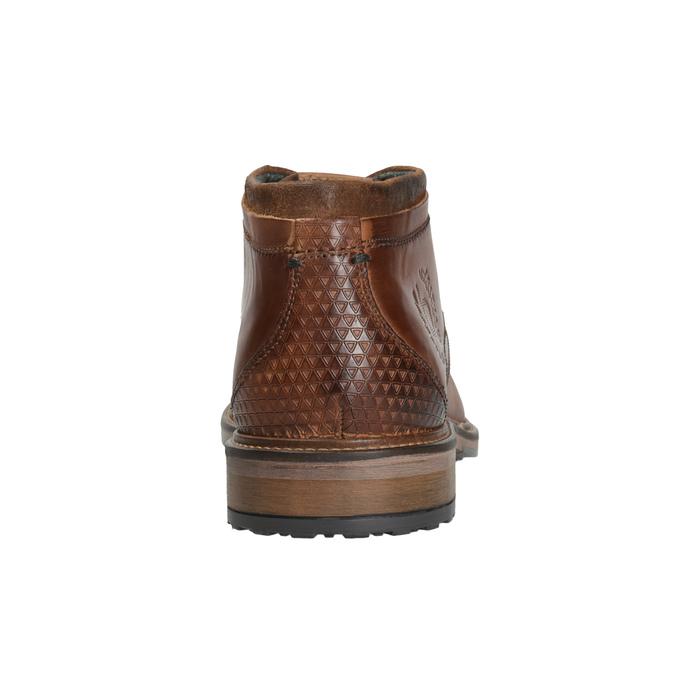 Kožená pánska členková obuv bugatti, hnedá, 826-3005 - 16