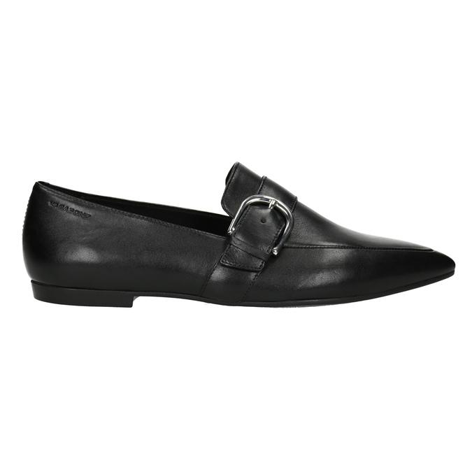 Kožené dámske mokasíny s prackou vagabond, čierna, 514-6017 - 26