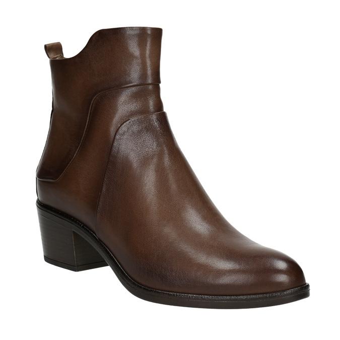 Členkové čižmy na stabilnom  podpätku bata, hnedá, 696-4654 - 13