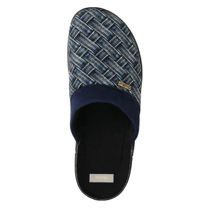 Pánska domáca obuv bata, modrá, 879-9611 - 26