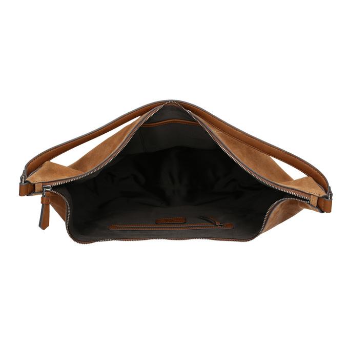 Hnedá kožená kabelka bata, hnedá, 964-4275 - 15