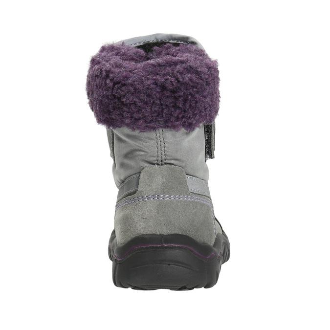 Dievčenská zimná obuv s kožúškom bubblegummers, šedá, 193-2601 - 17