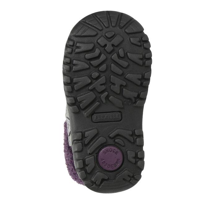 Dievčenská zimná obuv s kožúškom bubblegummers, šedá, 193-2601 - 19