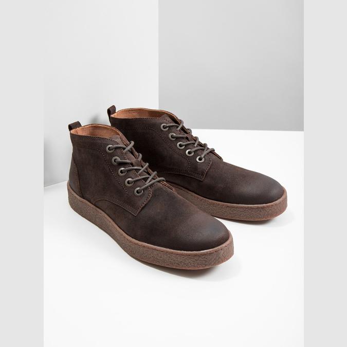 Pánska kožená členková obuv bata, hnedá, 846-4653 - 18