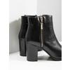 Kožené členkové čižmy bata, čierna, 694-6640 - 14