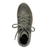 Dámská kožená obuv na flatforme bata, šedá, 596-2673 - 15
