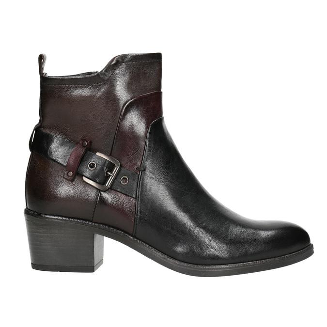 Dámska členková obuv s prackou bata, čierna, 696-6651 - 26