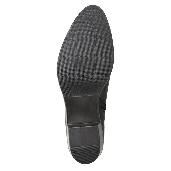 Dámska členková obuv s prackou bata, čierna, 696-6651 - 17