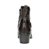 Dámska členková obuv s prackou bata, čierna, 696-6651 - 16