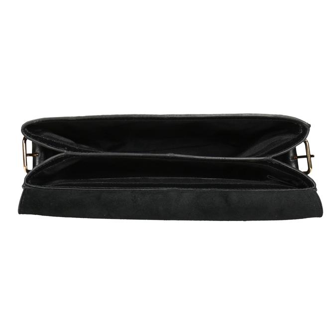 Čierna kožená Crossbody kabelka vagabond, čierna, 964-6086 - 15