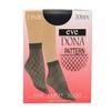 Dámske vzorované ponožky evona, čierna, 919-6672 - 13