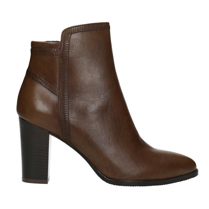 Kožená členková obuv bata, hnedá, 794-4650 - 26