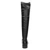 Kožené dámske čižmy nad kolená bata, čierna, 596-6682 - 16
