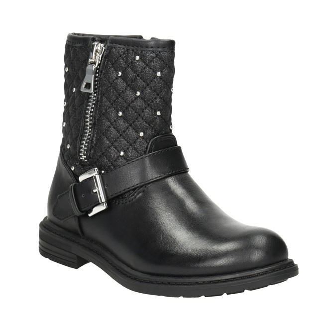 Dievčenské čižmy so zipsom mini-b, čierna, 291-6396 - 13
