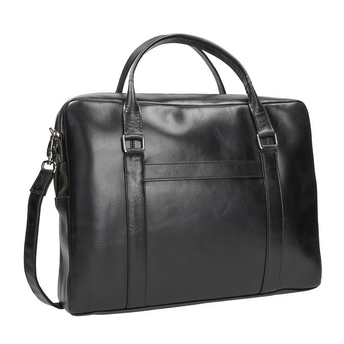 Čierna kožená taška royal-republiq, čierna, 964-6051 - 13