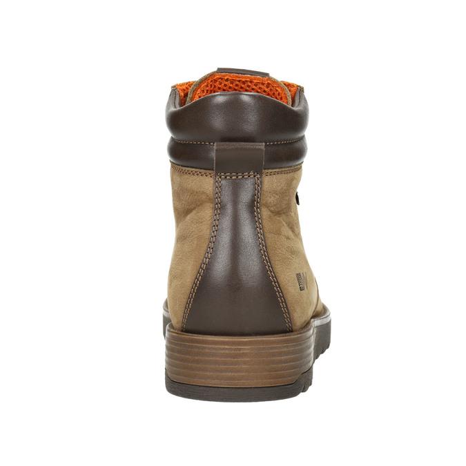 Kožená pánska zimná obuv weinbrenner, hnedá, 896-3700 - 17