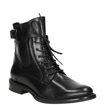 Kožená dámska členková obuv bata, čierna, 596-6680 - 13