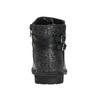 Dievčenská členková obuv s trblietkami mini-b, čierna, 391-6395 - 16