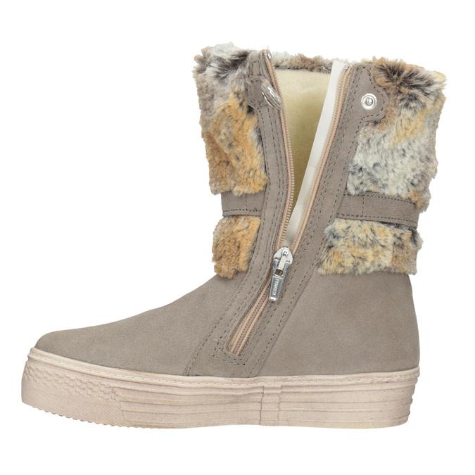 Detské zimné topánky s kožúškom primigi, béžová, 393-8015 - 15