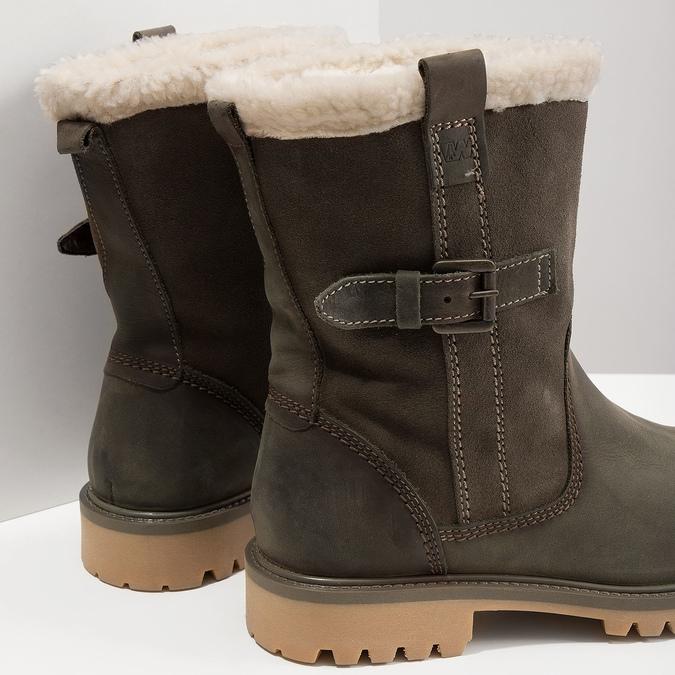 Dámska zimná obuv s kožúškom weinbrenner, šedá, 594-2455 - 18