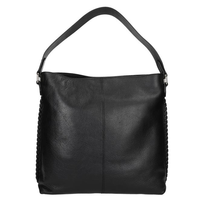 Dámska kožená kabelka bata, čierna, 964-6271 - 16