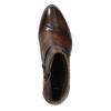 Kožené dámske členkové čižmy bata, hnedá, 696-4653 - 15