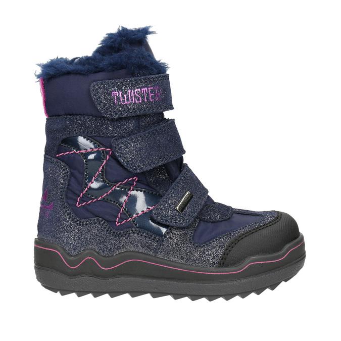 Dievčenská zimná obuv na suchý zips mini-b, modrá, 299-9613 - 15