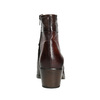 Kožené dámske členkové čižmy bata, hnedá, 696-4653 - 16