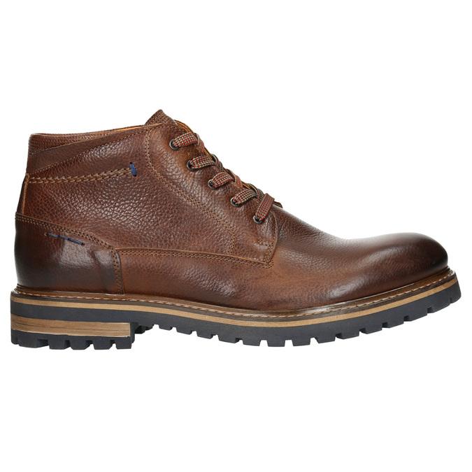 Pánska zimná kožená obuv bata, hnedá, 894-3672 - 15