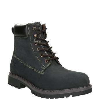Pánska kožená zimná obuv weinbrenner, čierna, 896-6656 - 13