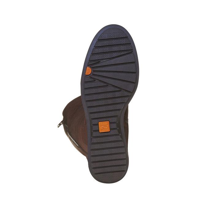 Hnedé kožené čižmy so zipsom flexible, hnedá, 594-4651 - 26