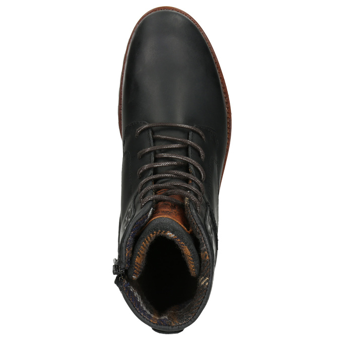 Pánska členková obuv bata, čierna, 896-6665 - 26