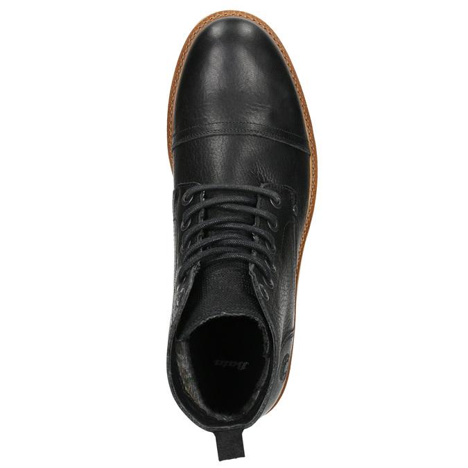 Pánska kožená členková obuv bata, čierna, 896-6667 - 26