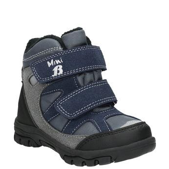 Detské zimné topánky na suchý zips mini-b, šedá, 291-2626 - 13