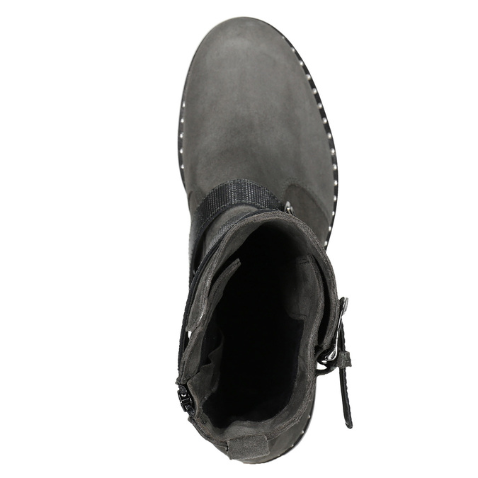 Dámske čižmy s prackami bata, šedá, 593-2610 - 15