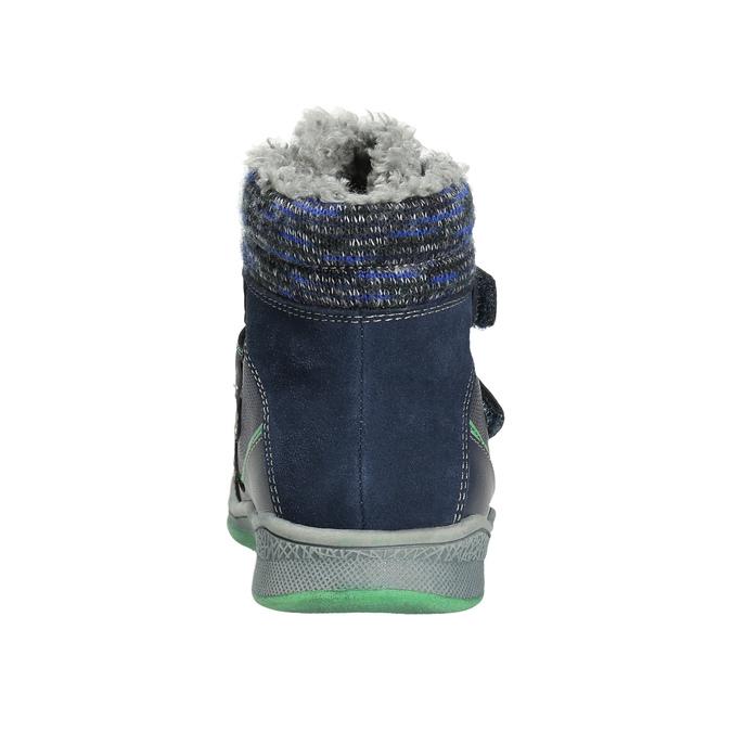 Detská zimná obuv so zateplením bubblegummers, modrá, 114-9611 - 17