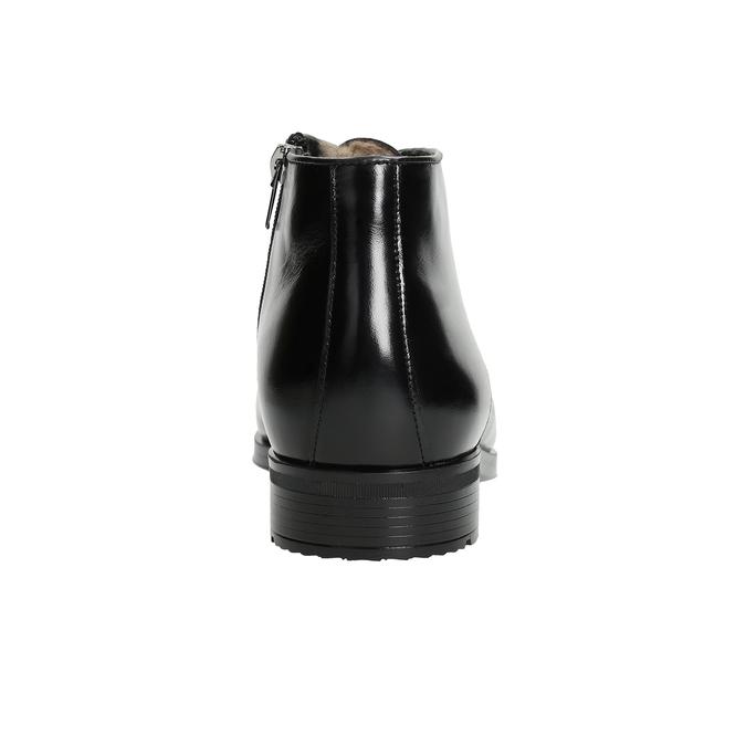 Kožená pánska obuv so zateplením conhpol, čierna, 894-6700 - 16