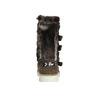 Kožené dievčenské čižmy s kožúškom mini-b, hnedá, 393-4606 - 17