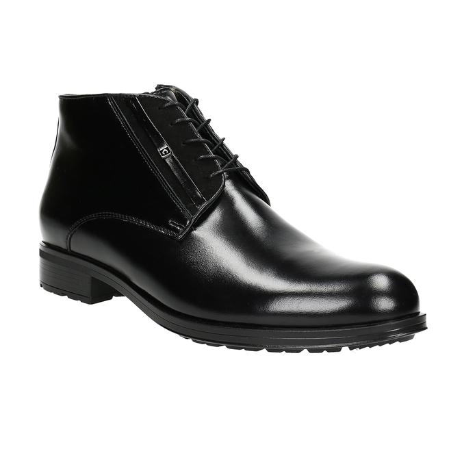 Kožená pánska obuv so zateplením conhpol, čierna, 894-6700 - 13